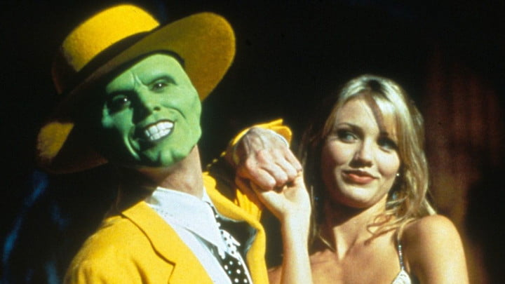 Jim Carrey and Cameron Diaz in The Mask.