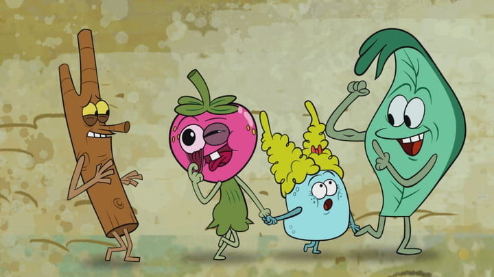 The animated main characters from the Hulu series The Mighty Ones.