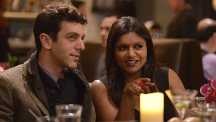 B.J. Novak and Mindy Kaling in The Mindy Project.