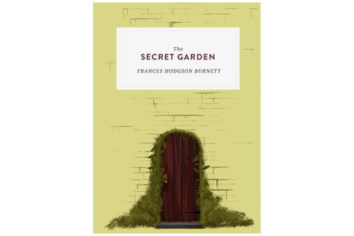 Photo shows a gate in a brick wall, partially covered by overgrown plants. The book title is in large letters at the top and the author's name is in a smaller font beneath