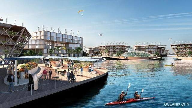 this floating city concept could withstand a category 5 hurricane the villages wouldnt allow any high emitting cars or trucks