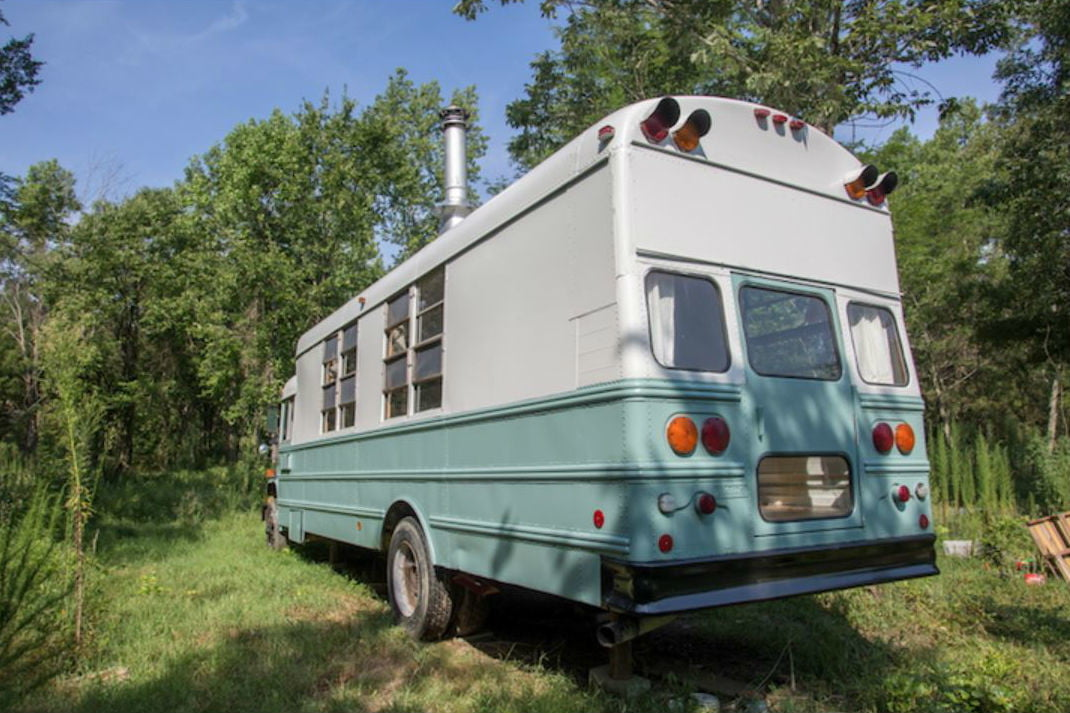coolest bus to mobile home conversions thomasschoolbusback