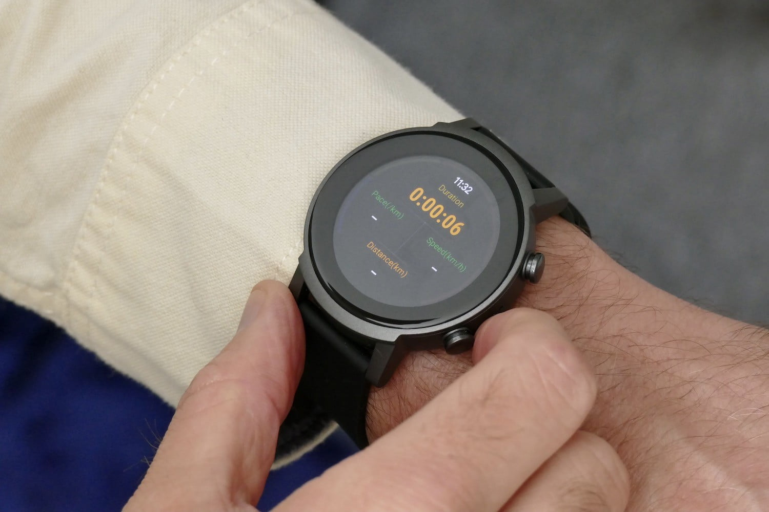 TicExercise app on the TicWatch E3.