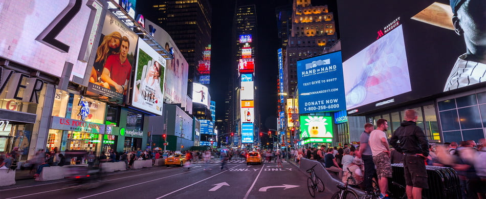 Picture of Time Square.