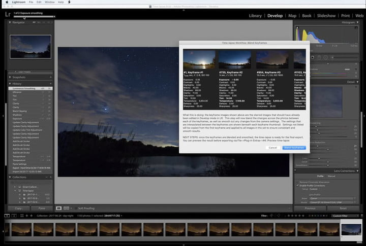 Editing time-lapse sequence with Timelapse Workflow