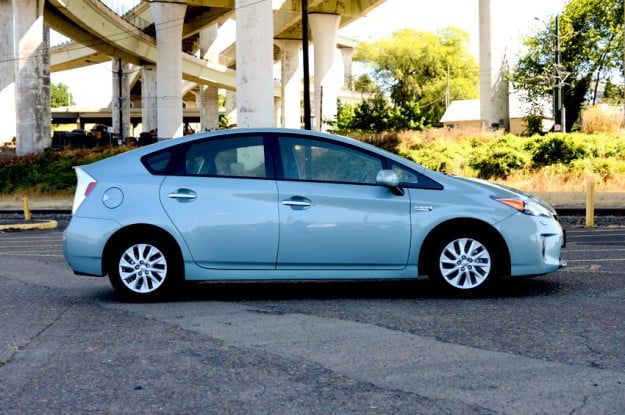 Toyota prius plugin exterior right side electric vehicle