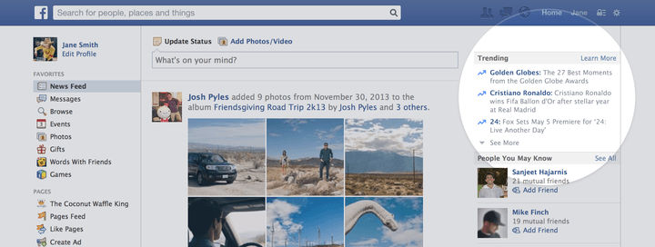 facebook debuts trending feature similar to twitter 1
