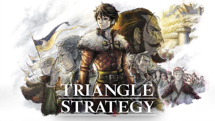 Cover art and title for Triangle Strategy.