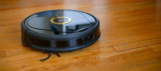 Trifo Lucy Robot Vacuum on hard wood
