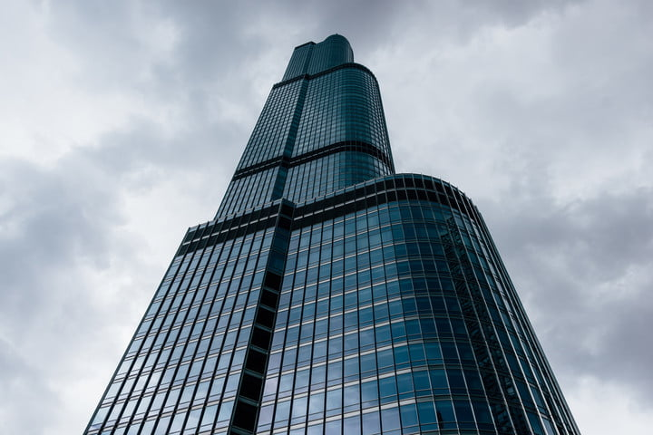trump tower cloudy