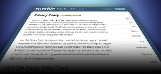 Tumblr privacy policy terms & conditions