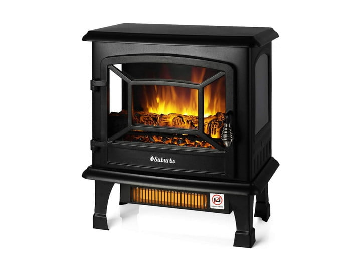 Turbro TS20 Electric Fireplace on white background.