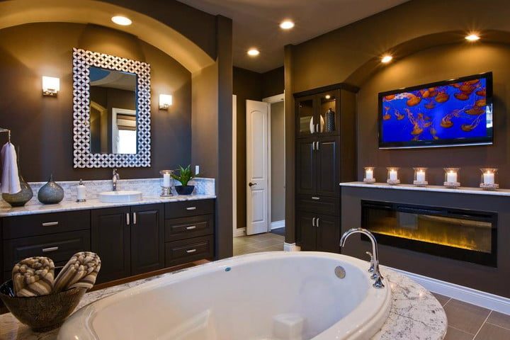 houzz survey finds bigger showers and more bathroom renovation trends tv in