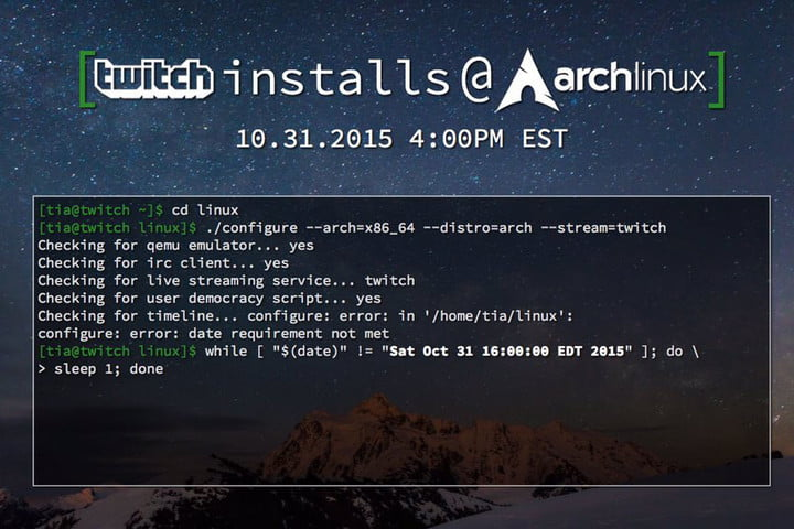 twitch is trying to install arch linux installs