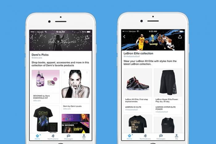 twitter shopping experience collections