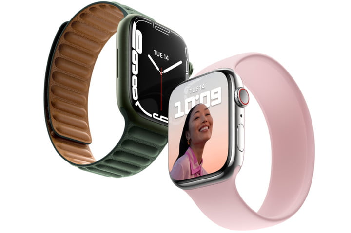 Two examples of the new Apple Watch 7.