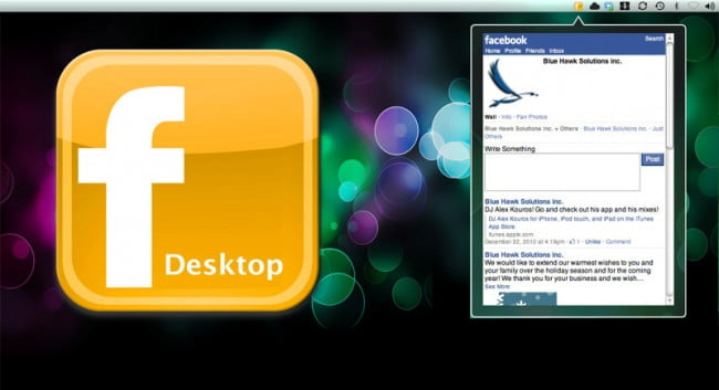 facebook on the desktop
