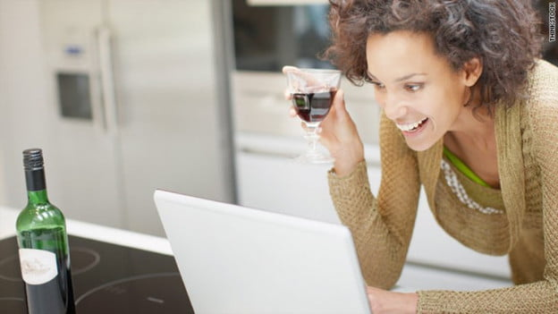 online shopping drinking