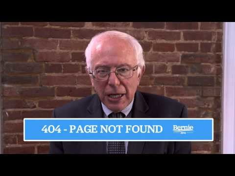 presidential candidates 404 pages  berniesanders com page not found