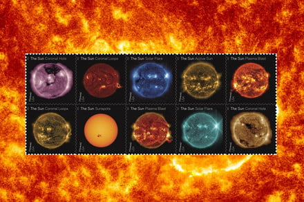 Our sun is the star of this awesome set of new stamps