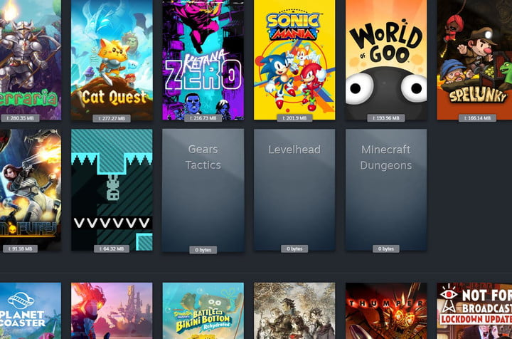 UWP apps listed in Steam.