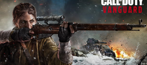 Woman with rifle in Call of Duty: Vanguard.