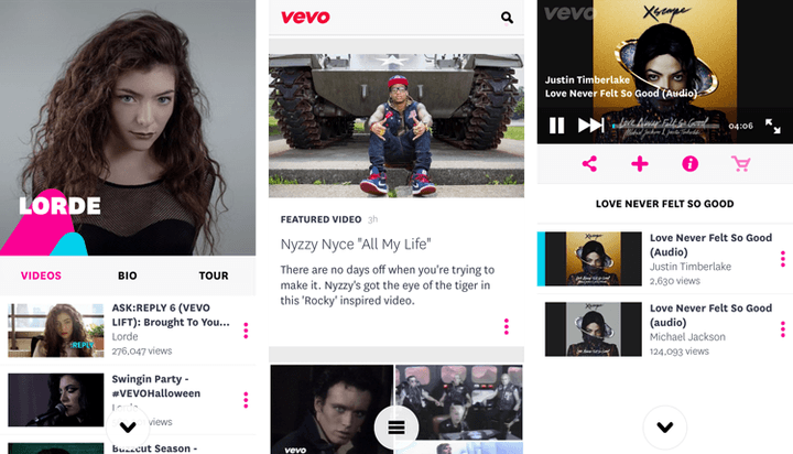 vevo acquires showyou subscriptions screens