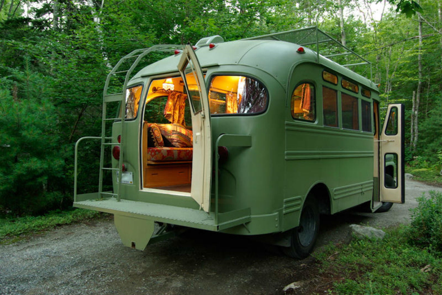 coolest bus to mobile home conversions vikingbusback