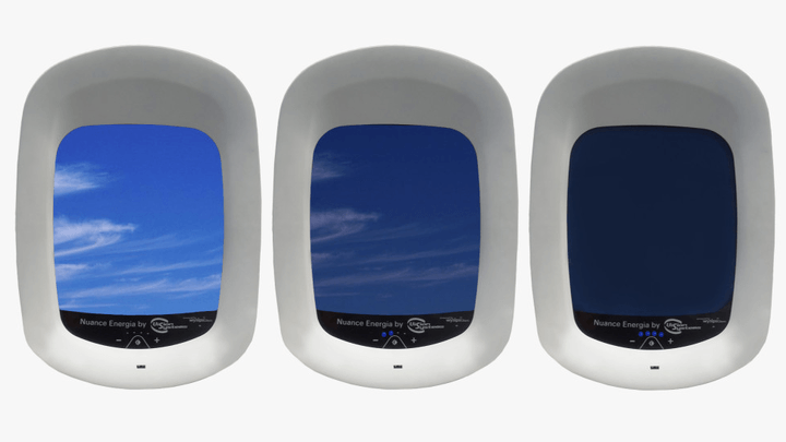 Airplane photovoltaic dimmable windows