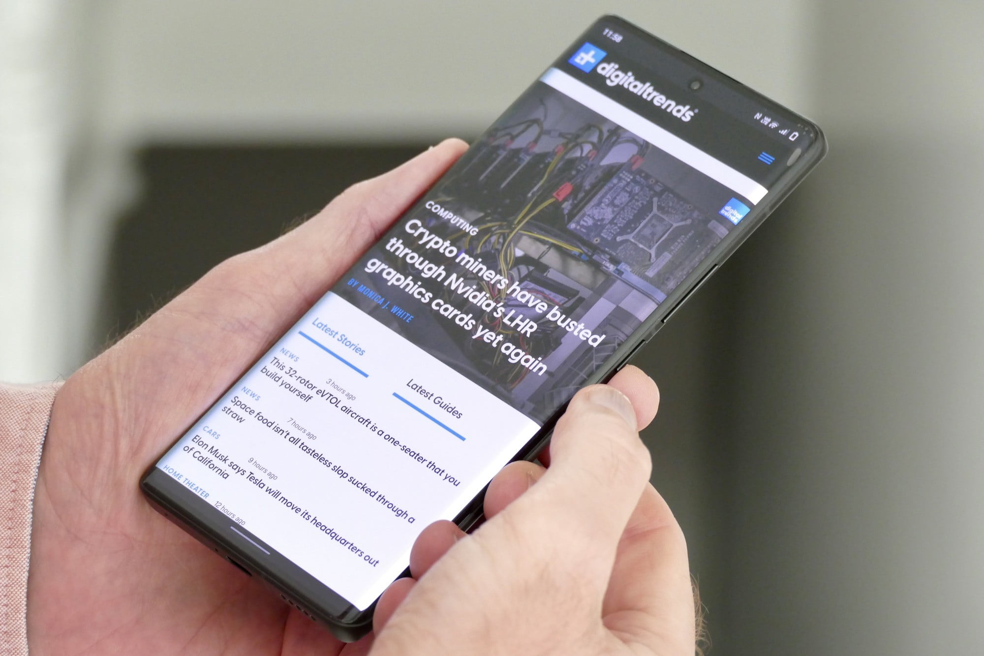 Browser shown on the Vivo X70 Pro+.