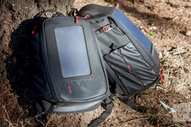 Voltaic OffGrid Solar backpack against tree