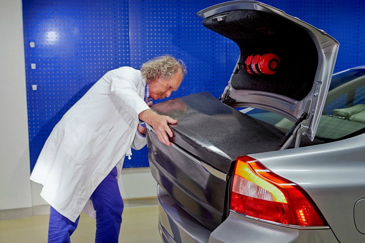 volvo breaks the mold develops carbon fiber body panels that are also batteries capacitor