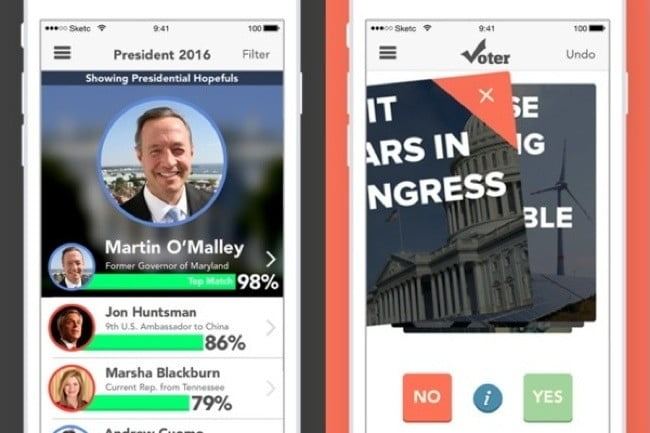 find your dream candidate with a tinder like app called voter 2