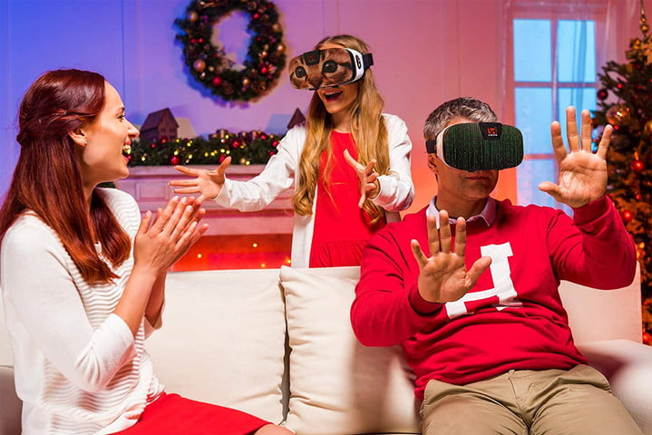Family playing with the VR Wear VR Headset.