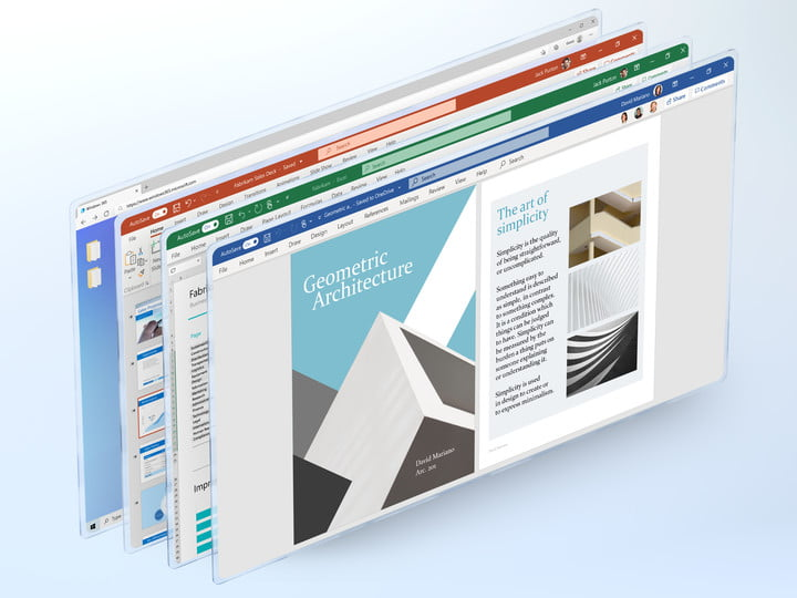 A view of some of the Windows 365 Cloud PC apps.