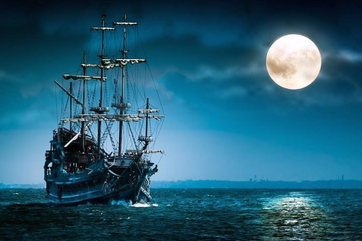 pirate bay announces fake april fools device designed embrace entire mind wallpapermania ship sailing in the moonlight 2560x1