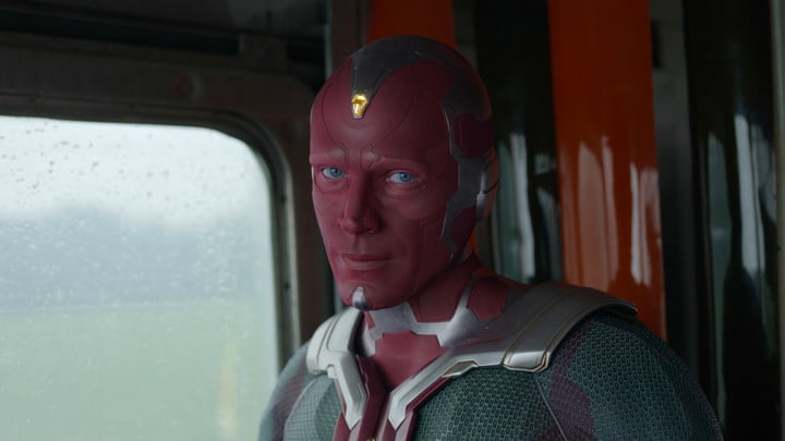Paul Bettany as Vision in WandaVision.
