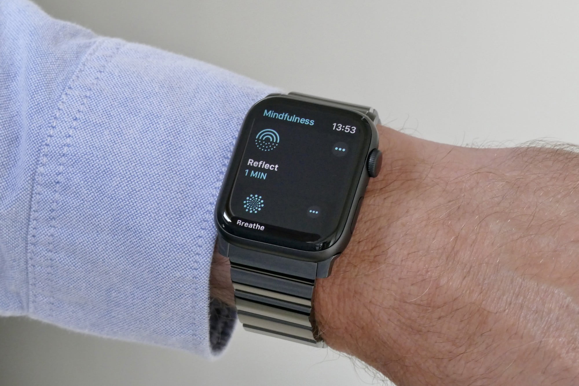 The Mindfulness app in WatchOS 8.
