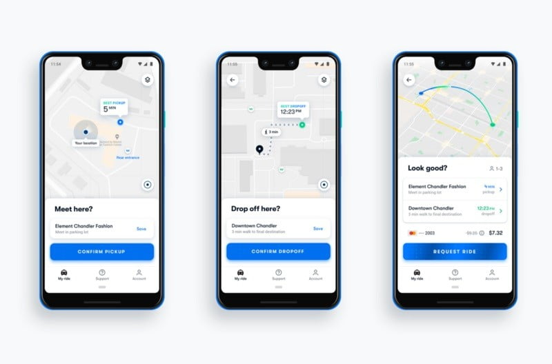 Waymo One screen shot
