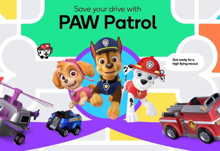 Characters from the PAW Patrol.