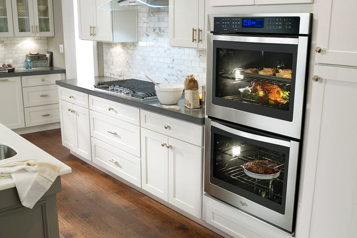 whirlpool yummly 6 4 cu  ft combination wall oven p150072 22z