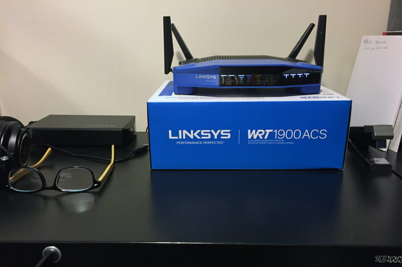 Moving the router: Configuration 2