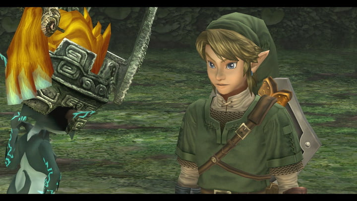 A close-up of the hero Link in The Legend of Zelda: Twilight Princess