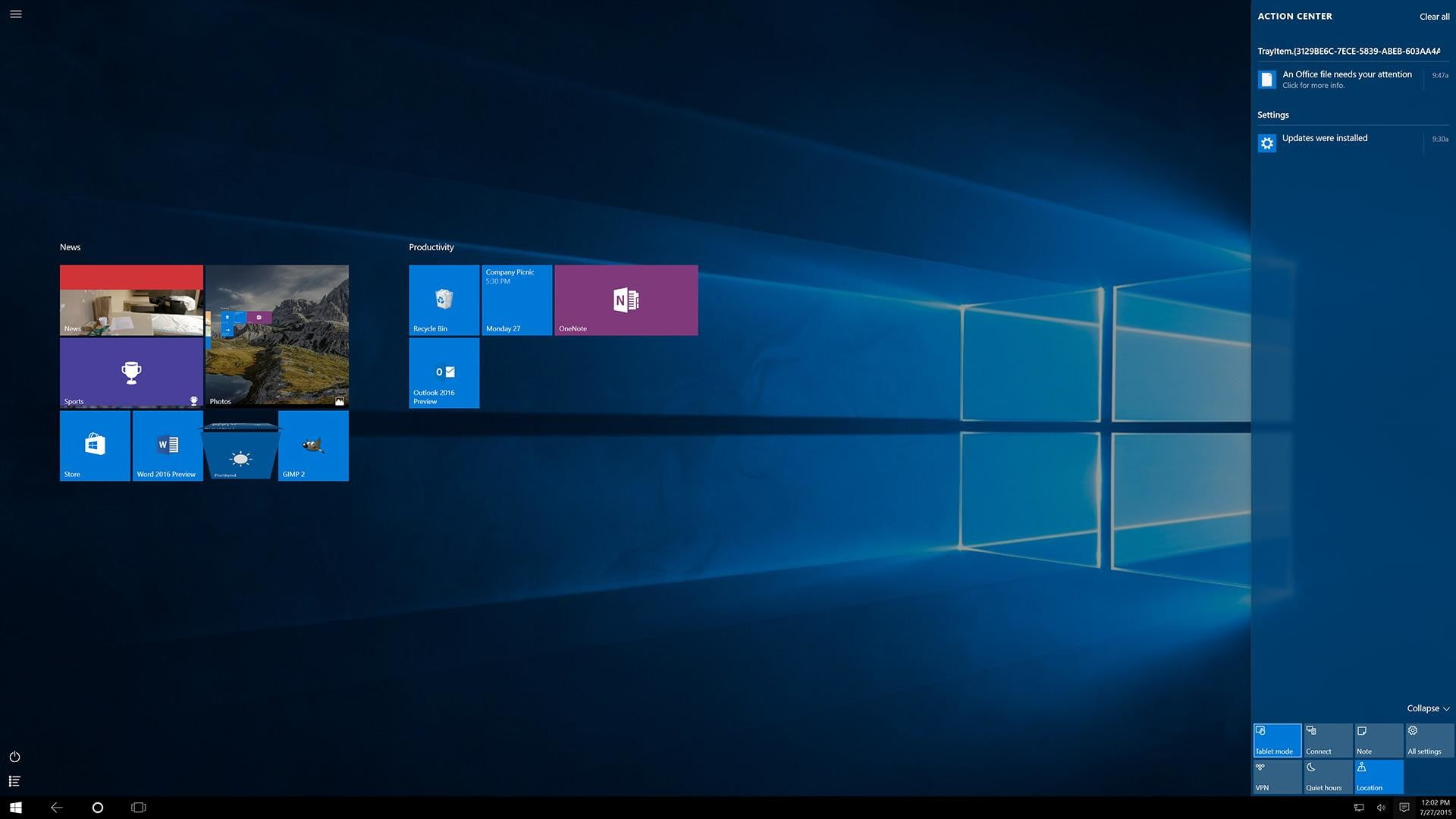 windows 10 review action