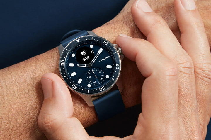Withings ScanWatch Horizon blue dial.