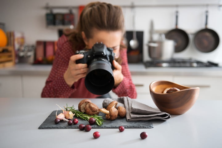 canon photography trends survey woman food photographer taking closeup of mushrooms