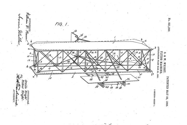 wright brothers 1903 flying machine patent found
