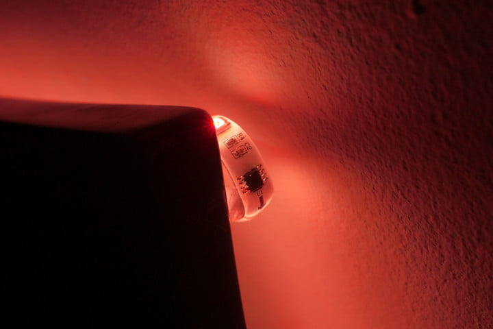 Exposed LED on the Wyze Light Strip Pro.
