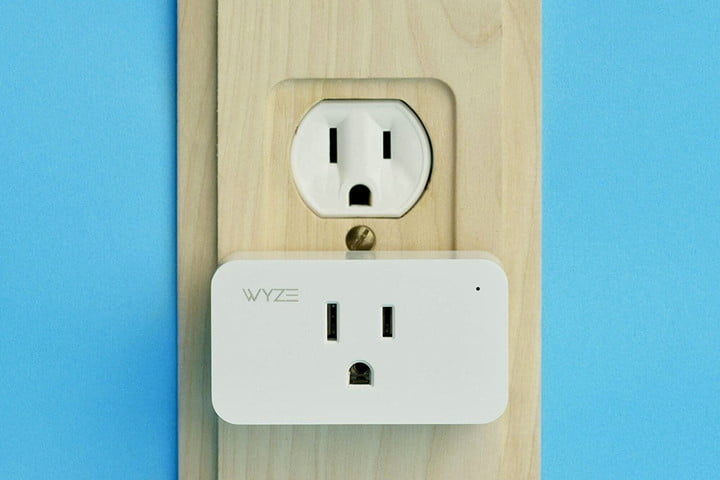 The Wyze Smart Plug connected to an outlet.