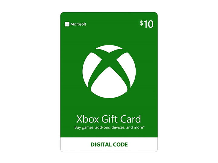 An Xbox gift card for .